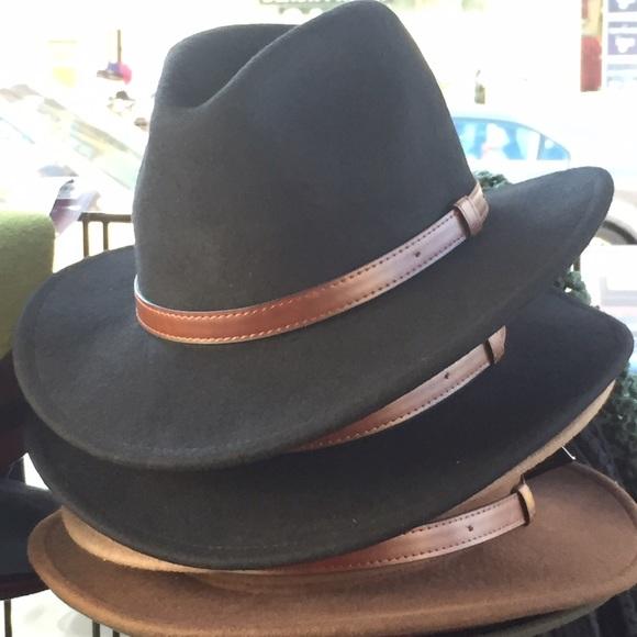 fcf5ba563 Epoch MEN Wide Brim Felt Fedora with Leather Band Boutique