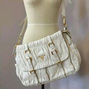 dd6295b74d51 Callaway Bags | Auth Prada Nappa Leather Gaufre Messenger Bag | Poshmark