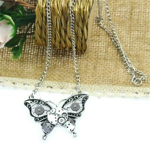 Dirty Girly  Jewelry - Steampunk Butterfly Pendant Necklace