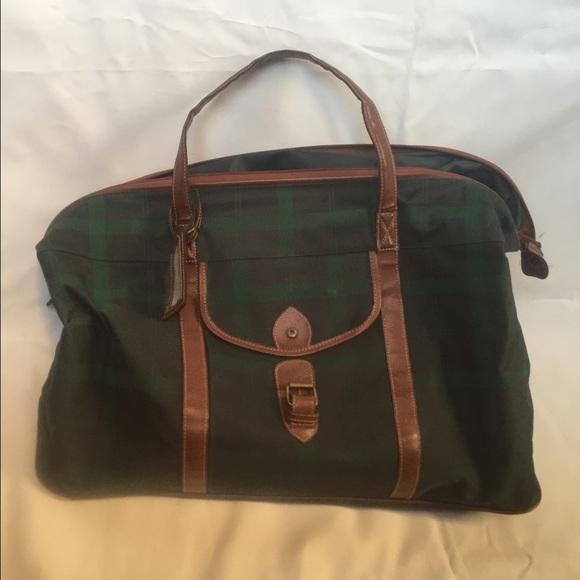 Polo Ralph Lauren Green Plaid Duffle Bag. M 5831a37799086a520e06dc23 1e16823db5380