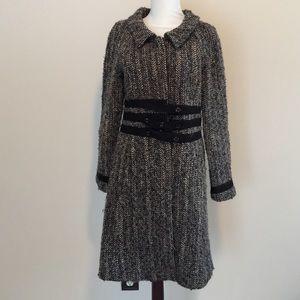 Theory Jackets & Blazers - THEORY wool winter jacket coat tweed black camel 6