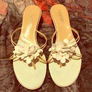 Sam & Libby White Flower Sandals