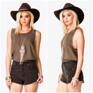 Forever 21 Tops - Forever 21 Bolt Studded Chiffon Top