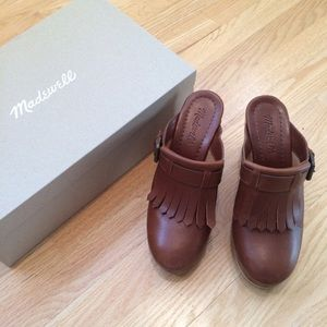 Madewell Fringed Clogs size 7
