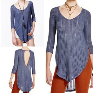 Free People Tops - NWT free people Astoria robbed hacci tunic top xs
