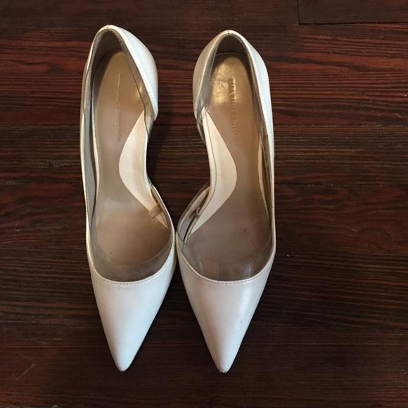 Zara Shoes | Zara White And Clear Pumps
