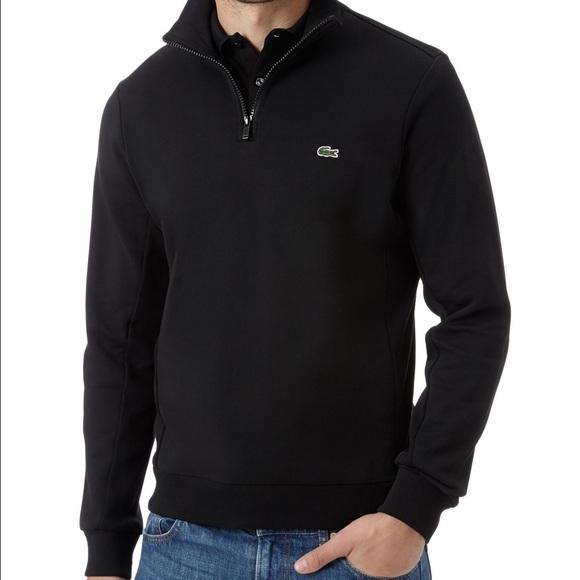a6907077213a Lacoste Other - Lacoste men s black quarter zip sweater.