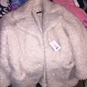 Topshop Jackets & Coats - Topshop Teddy Fur Coat