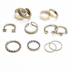 NWT free people mega ring mix match set