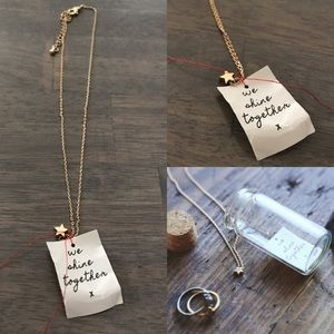 Free People Jewelry - Free people star necklace shine together message