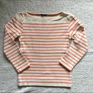 Striped top - cream/ orange