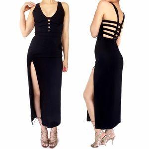 Vintage Dresses & Skirts - Vintage Rex Lexter black cage dress