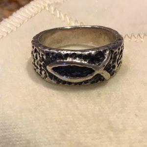 James Avery Jewelry - James Avery Retired Textured Ichthus Fish