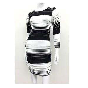Striped Black & White Dress