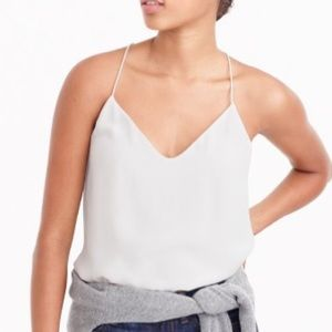 J. Crew Tops - J. CREW ivory 100% Silk Carrie Cami NWT