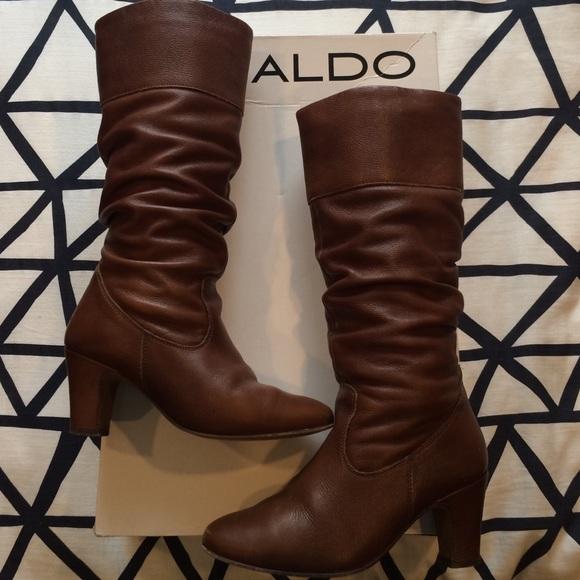 Aldo Shoes   Cognac Boots   Poshmark