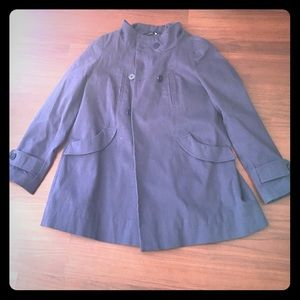 Topshop Jackets & Blazers - Topshop navy trench coat. Small