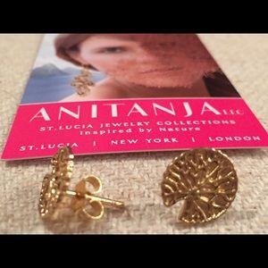 Anitanja Jewelry - Anitanja Lilypan Studs 18k Gold Plated over Bronze