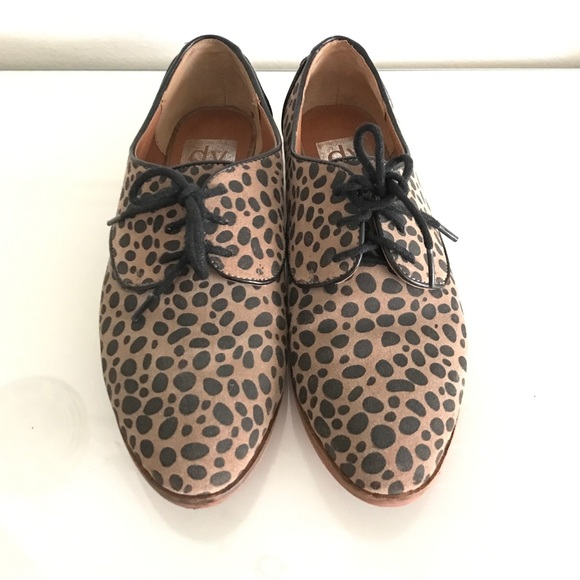 Dolce Vita Shoes   Animal Print Oxfords