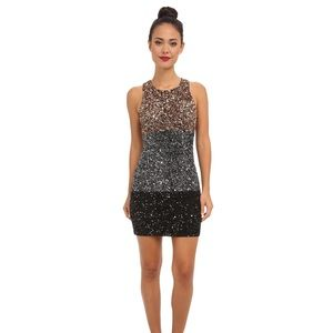 French Connection sequin color block dress