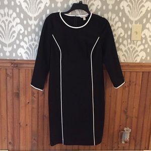 Banana republic black ponte knit dress
