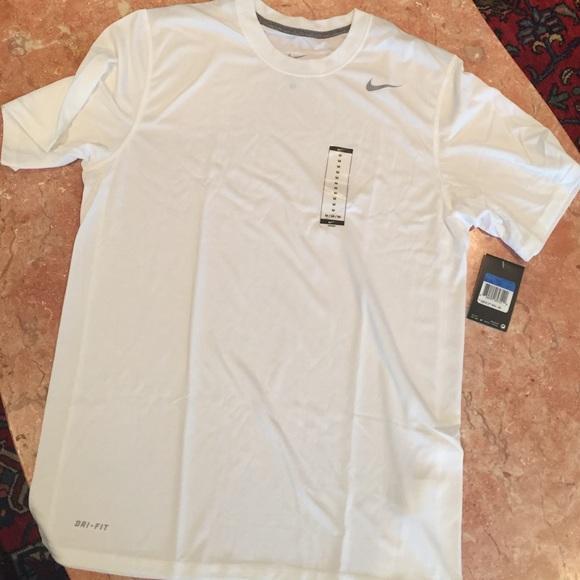 b3ef8814 Nike Shirts | White Dri Fit Athletic Shirt Size M | Poshmark