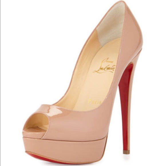 Christian Louboutin Shoes - Christian Louboutin Lady Peep Patent Red Sole  Pump