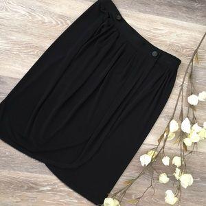 Z Spoke by Zac Posen Dresses & Skirts - Z SPOKE BY ZAC POSEN BLACK WRAP SKIRT