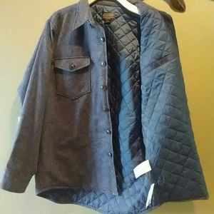 283529bd729920 Pendleton Jackets & Coats - NWOT Pendleton button up quilted CPO shirt  Jacket.