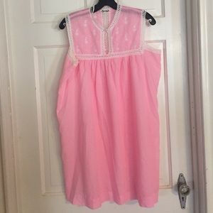 🦃NWOT Vintage Joycelyn's Pink Cotton Gown. Lg