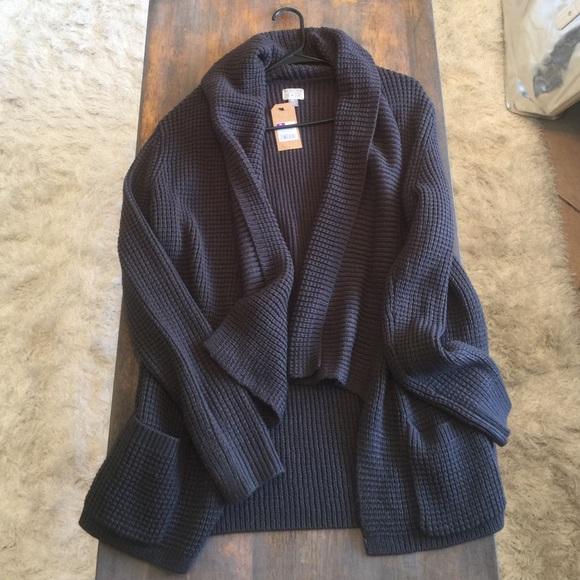 0292b72c8356 Converse One Star Grey Knit Cardigan