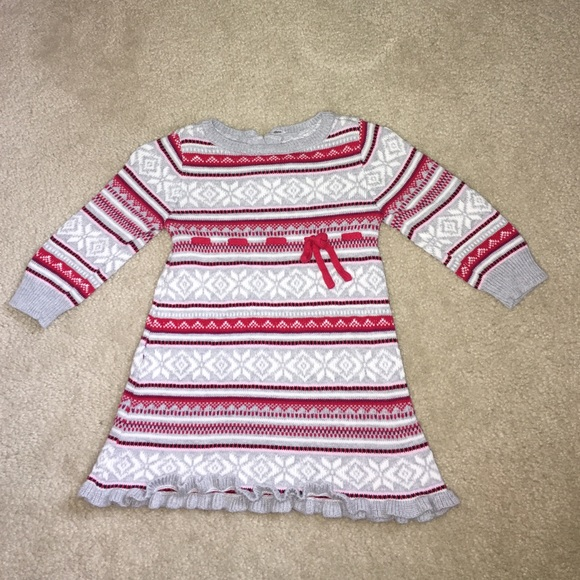 70% off Gymboree Other - Winter Fair Isle Baby Girl Sweater Dress ...