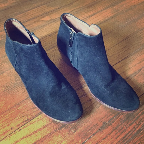 46e99ce4b87965 Sam Edelman  Petty  boot- black suede- 7.5. M 5831e42356b2d680e107a9c1