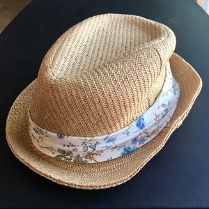 Straw Fedora Hat Flower Detail Forever 21