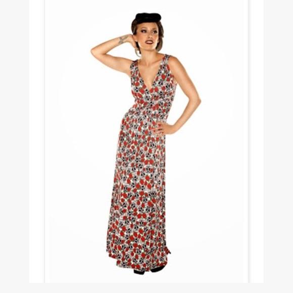 8976d12c8b27 ModCloth Dresses | Sugar Skull And Roses Maxi Dressnwot | Poshmark