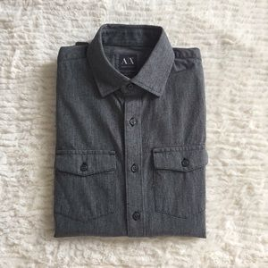 [Armani Exchange] Luxe Fitted Casual Buttondown
