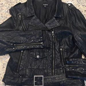 Bebe faux leather Moto jacket.