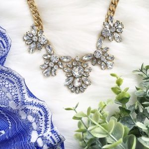 """Erica Rose Jewelry - """"Tinsley"""" Necklace    Clear Crystal Statement"""