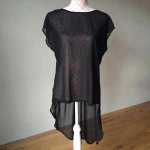 Forever 21 Tops - Forever 21 Sheer High Low Tunic