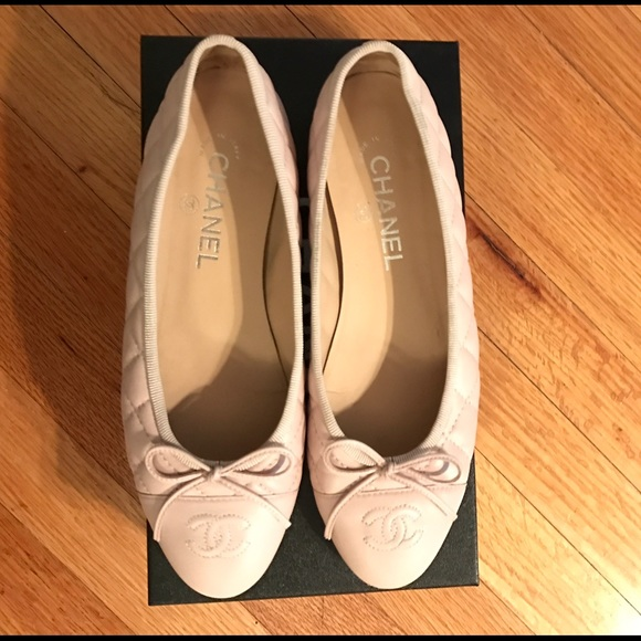 6fdfba5e668 Chanel Quilted Ballet Flats - Light Pink