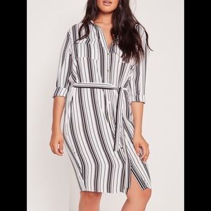 Missguided + Dresses & Skirts - Missguided Striped Shirt Dress