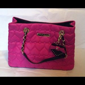 Betsey Johnson Be Mine Shopper Tote Fuchsia NWT