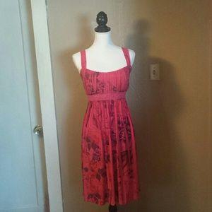 Taboo Dresses & Skirts - Flowing Floral Stripped Pattern Mini Sun Dress