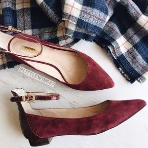 Louise et Cie Shoes - Burgundy suede flats