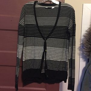 Urban Outfitters Sweaters - Black and grey stripe BDG cardigan