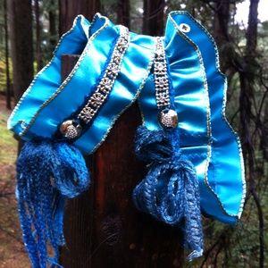 Ribbon boot cuff bling