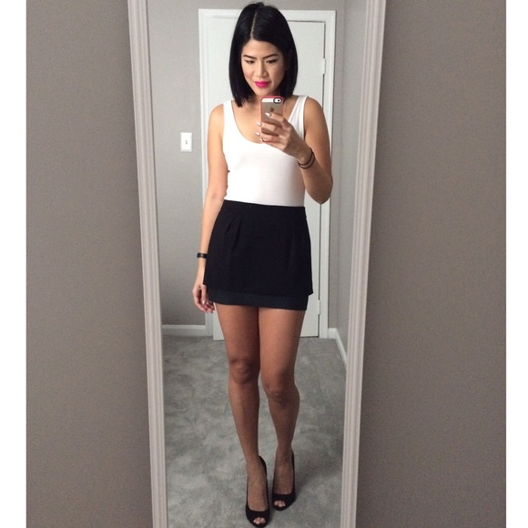 7f975a61a Express Dresses & Skirts - *FINAL* Express Black mini skirt with faux  leather