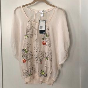 H&M women's top blouse. Size 6