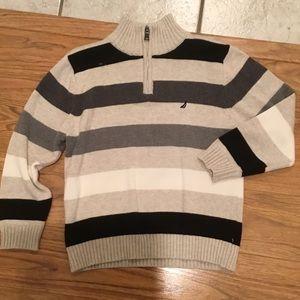 Like new boys Nautica striped pullover size 7