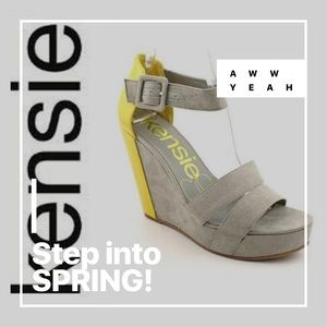 ✅CLEARANCE $15 KENSIE GIRL LIMONCELLO & GRAY WEDGE